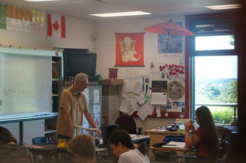 カナダ高校の授業風景