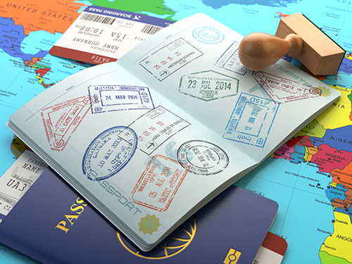 ビザ申請、航空券、保険などの手配